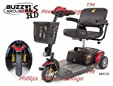 Golden Technologies - Buzzaround XLS HD - Travel Scooter - 3-wheel - Red - PHILLIPS POWER PACKAGE TM - TO $500 VALUE