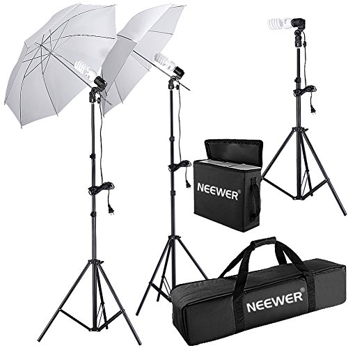 Neewer¨ 600W 5500K Photo Studio Day Light Umbrella Continuous Lighting Kit for Product,Portrait and Video Shoot