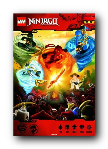 Amazon.com: LEGO Ninjago Juego Video Gaming Póster 24 x 36 ...