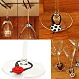 AVIRGO 20 pcs Glass Charms Wineglass Drink Marker