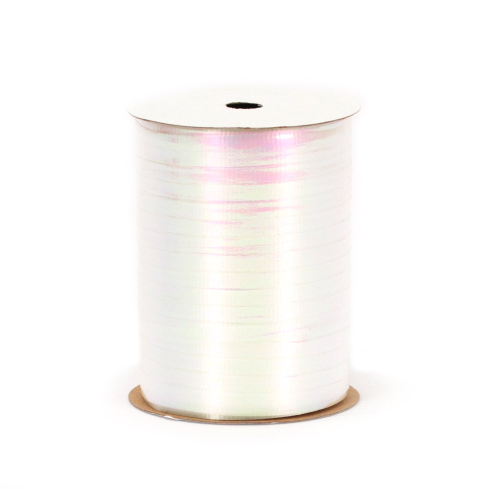 Berwick RC15 01 Crimped Iridescent Curling Ribbon, 3/16-Inch Wide by 100-Yard Spool, White