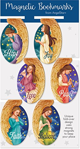 AngelStar Oval Angel Magnetic Bookmark 6-Pack
