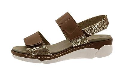 acheter maintenant Bons prix Royaume-Uni disponibilité PieSanto Chaussure Femme Confort en Cuir 1503 Sandales à Semelle Amovible  Confortables Amples