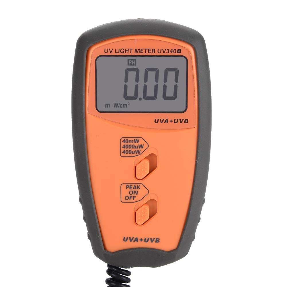 Digital Portable Illuminance Handheld UV Light Meter UVA UVB Intensity Measure Tester with Protective Case No Batteries Included