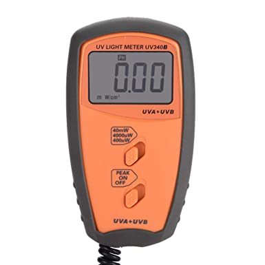 UV340B Portable Handheld UV UVA UVB Intensity Measure Tester Photometer Luxmeter Environmental Lighting Testing Tool Digital Illuminance Light Meter