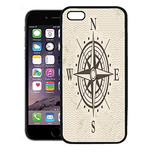 Semtomn Phone Case for iPhone 8 Plus case,Compass Wind Rose Map Treasure Vintage Adventure North iPhone 7 Plus case -