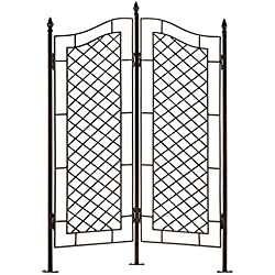 H Potter Large Trellis Wrought Iron Two Panel Ivy Garden Screen