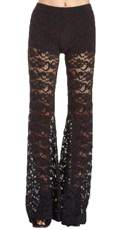Unko Women's Simple Vogue Sexy Wide Leg Comfy Palazzo Pants