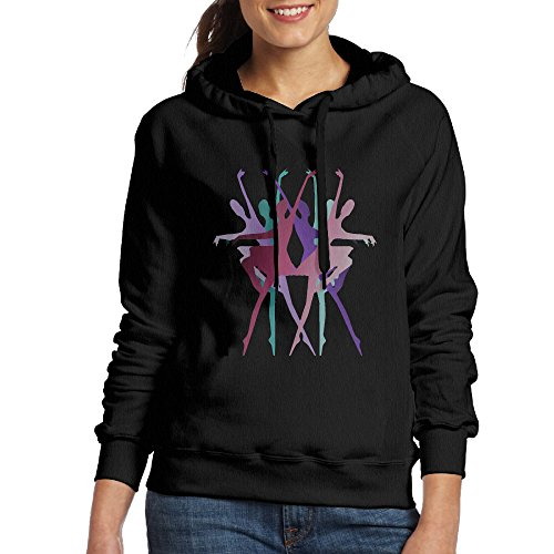 CSECGAR Dancer's Beauty Women's Pullover Hooded Sweatshirt S Black