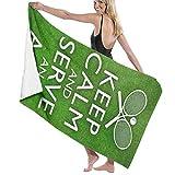 WAY.MAY Keep Calm and Ace Tennis Bath Towel Bath Sheets Bath Wrap Beach Towel Shawl Bathrobe Hooded Towels Washcloths