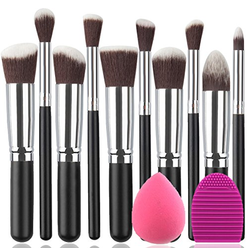 BEAKEY-Makeup-Brush-Set-Premium-Synthetic-Kabuki-Foundation-Face-Powder-Blush-Eyeshadow-Brushes-Makeup-Brush-Kit-with-Blender-Sponge-and-Brush-Egg-102pcsBlackSilver