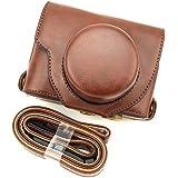 Generic Ever Ready Camera Case Bag + Shoulder Strap For Fujifilm X10 X20 Dark Brown