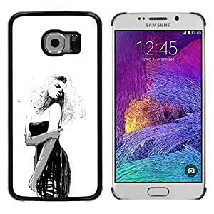 // PHONE CASE GIFT // Duro Estuche protector PC Cáscara Plástico Carcasa Funda Hard Protective Case for Samsung Galaxy S6 EDGE / Pin Up Girl /
