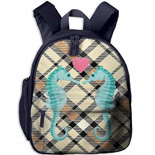 Ojinwangji Sea Horse LoveChildren's Full-Size Printed Backpack (with