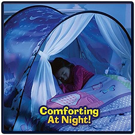 Plage Dream Tents, Popular Dream Tents Magical Winter Wonderland Folding Children Tent Sky Tent Fantasy Tent Indoor Bed Nets for Kids (B)