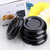 Grand Piano Caster Cups Furniture Round Wheel Casters Cups Gripper Set Load Bearing Black for Hardwood Floors Upright Piano 4PCS by OIBTECH(Wood)