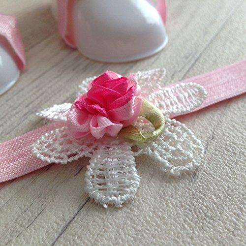 Conjunto couvres patas + diadema assortit modelo encaje: corazones, flores y mariposas Fleurs dentelle Talla:Fleurs dentelle Fleurs dentelle