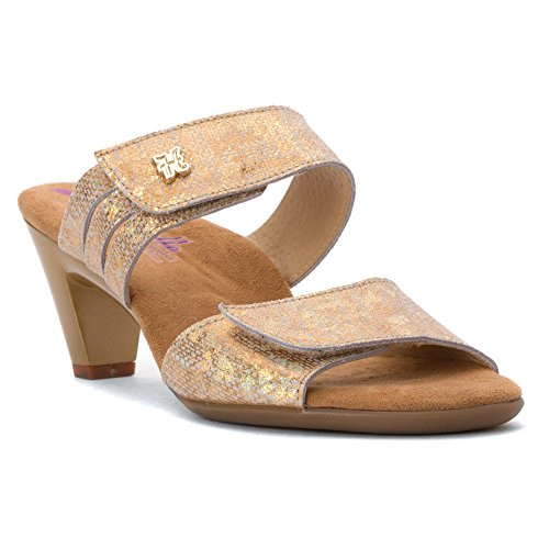 Comfort Womens Leather Gold Sandals Ela Helle xU58d0ngqq