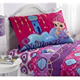 """Magical, Soft and Beautiful Nickelodeon's Shimmer and Shine """"Magic Wonders"""" Polyester Sheet Set, Full"""