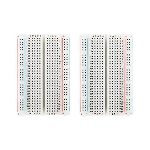 Oak-Pine Breadboard Solderless Prototype PCB Board, 400 Tie-Points Breadboard, 4 Power Rails for Arduino Jumper Wire for UNO R3 MEGA 2560 Nano - Oak Breadboard