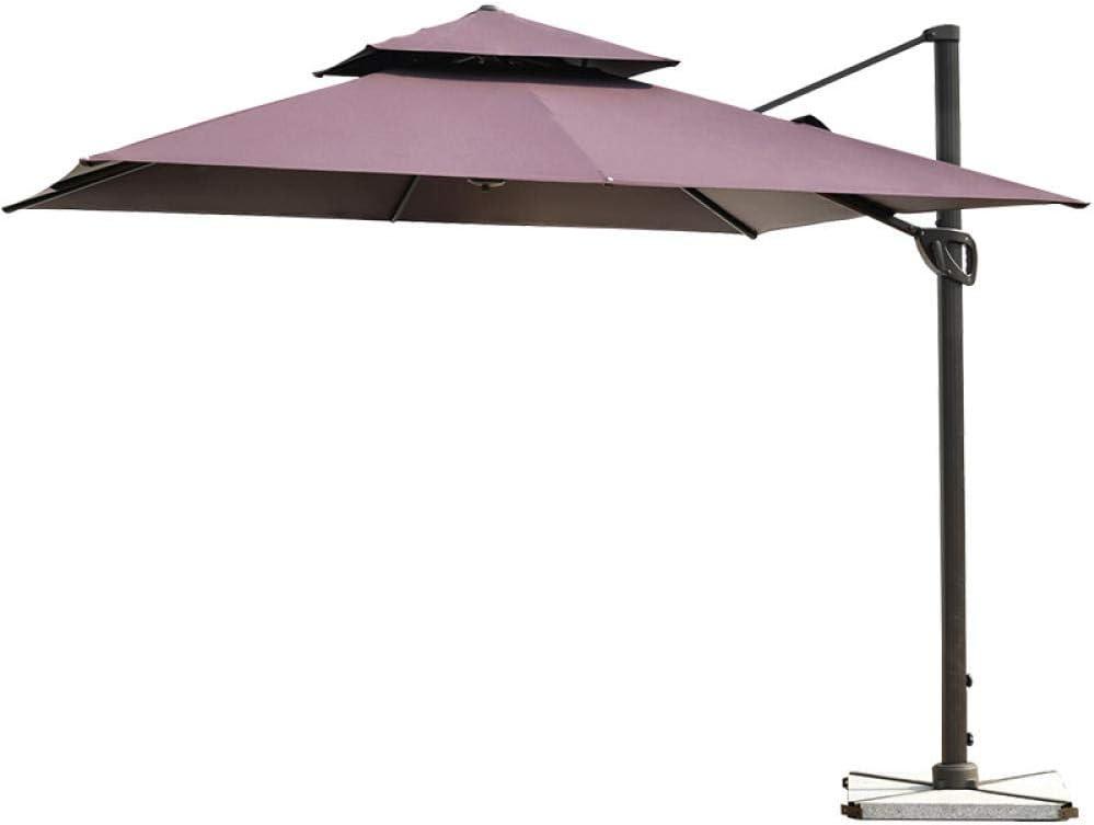 TNKML Ombrellone da Giardino Ombrellone Esterno 3 M Ombrellone Ombrellone A Sbalzo Protezione UV per Terrazza Giardino Piscina