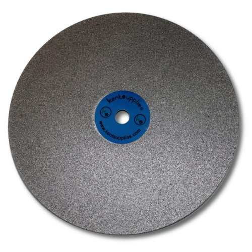 8 inch Grit 100 Quality Electroplated Diamond coated Flat Lap Disk wheel by Kent Blades