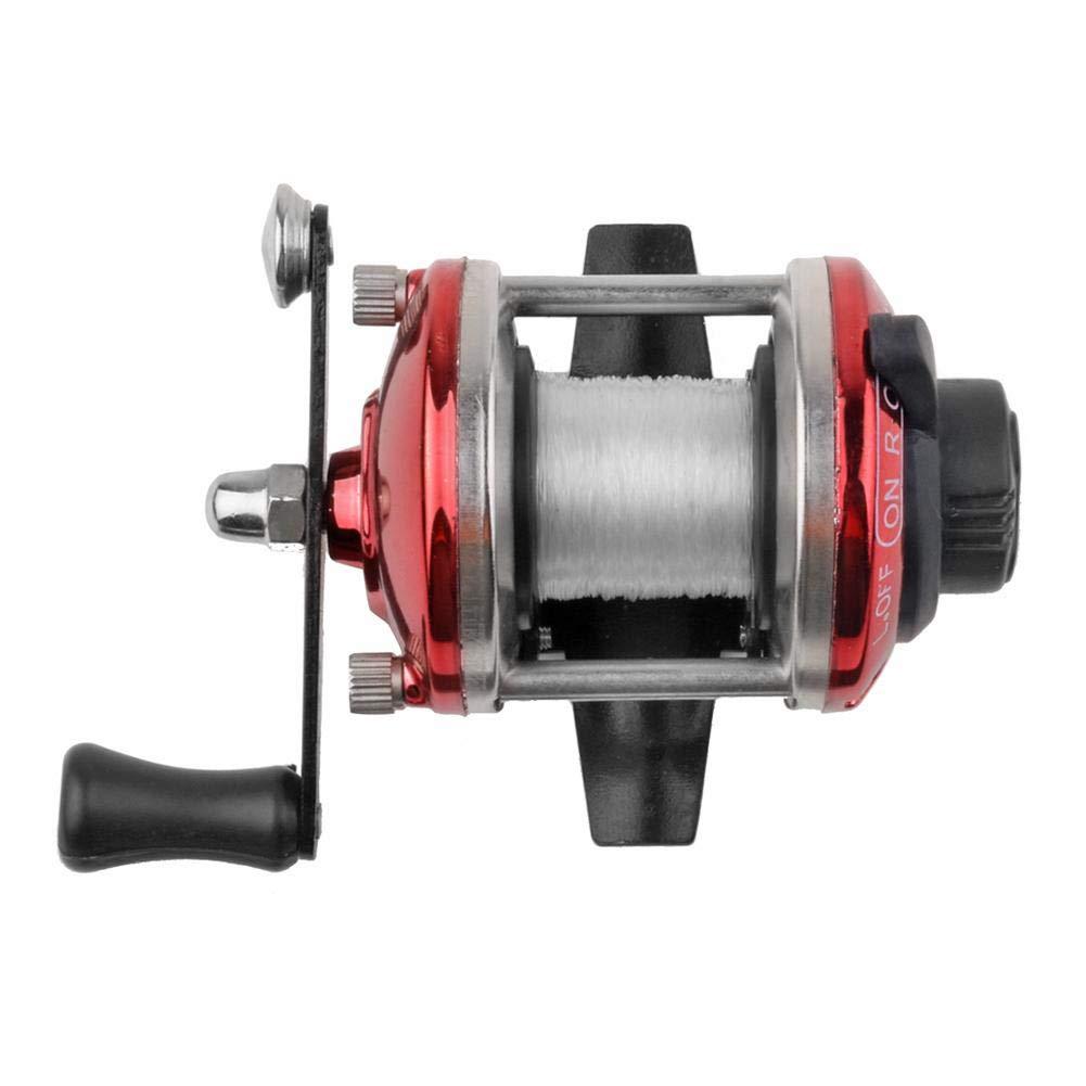 JUNERAIN Mini Metal Bait Casting Spinning Ice Mulinello da Pesca Water Drop Wheel (Blu)