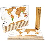 Scratch Off World Travel Tracker Map. Scratch your adventures! Gift packaging and professional design by Landmass Goods.