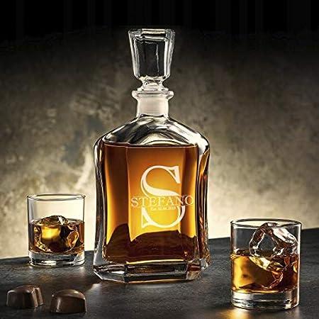 Whisky Decantador Personalizado, Grabado A Medida Con Nombre, Inicial Y Año, Tamaño 700ml