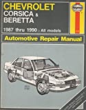 1987-1990 HAYNES CHEVROLET CORSICA & BERETTA REPAIR SERVICE MANUAL 1628 (036)
