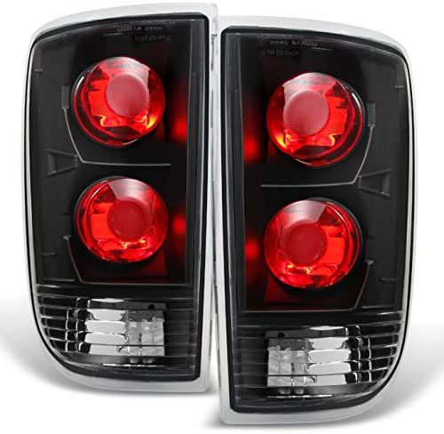 Set of Pair Black 3D Style Taillights for 2002-2009 GMC Envoy Envoy XL