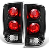 1995-2004 Chevy Blazer S10 GMC Jimmy Envoy LH + RH Black Replacement Taillights Tail Lamps Pair Set