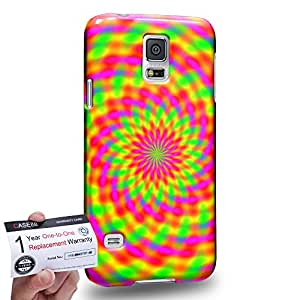 Case88 [Samsung Galaxy S5] 3D impresa Carcasa/Funda dura para & Tarjeta de garantía - Art Fashion Visual Art Effect 3