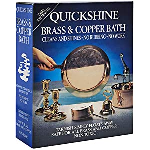 COPPER AND BRONZE BATH THE SIMPLE WAY TO CLEAN YOUR METALS QUICKSHINE BRASS