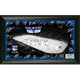 "NHL New York Rangers Signature Rink, Black, 24"" x 16"" x 4"""
