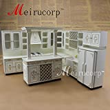 FINE Dollhouse 1/12th Scale Miniature furniture Perfect Handmade Gold Kitchen set