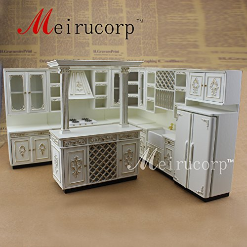 FINE Dollhouse 1/12th Scale Miniature furniture Perfect Handmade Gold Kitchen set by Meirucorp