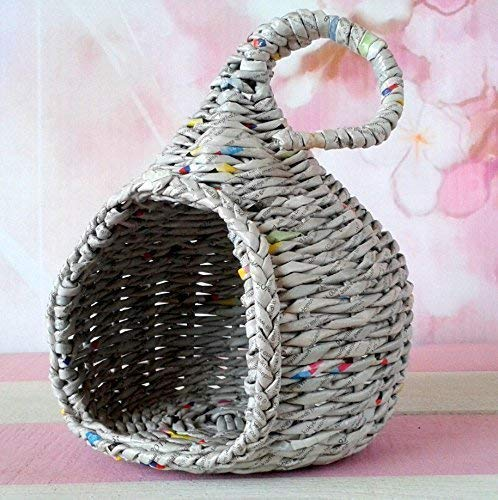 Miniature bjd Cat Hideout, Wicker Doll Pet Bed Dollhouse. Doll Companion Elleocat, Evethcat Nest.
