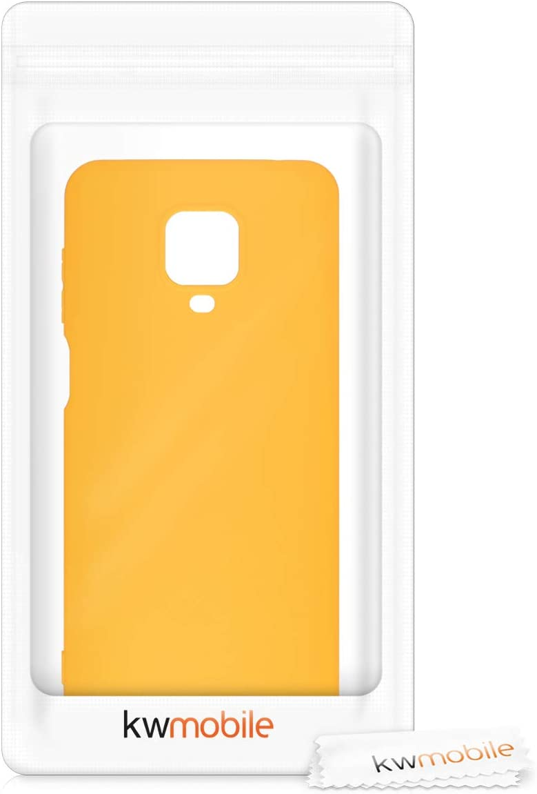 9 Pro Protector Trasero en Amarillo azafr/án 9 Pro MAX kwmobile Funda Compatible con Xiaomi Redmi Note 9S Carcasa de TPU Silicona