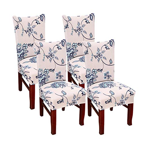 - SUBCLUSTER 4 Pcs/Set Premium Chair Cover Set Upgrade Chair Protective Cover Slipcover Universal Stretch Elastic Chair Protector Seat Covers for Dining Room Wedding Banquet Party Decoration (Style 2)