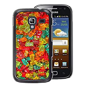 A-type Arte & diseño plástico duro Fundas Cover Cubre Hard Case Cover para Samsung Galaxy Ace 2 (Gummy Bear Candy Sweets Food Colors)