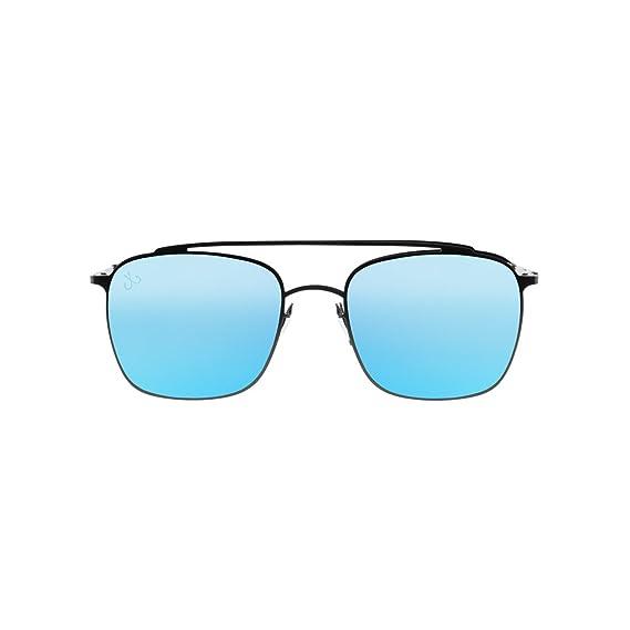 HOOK Gafas de Sol Acero Inoxidable Unisex Montura Negra y ...