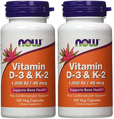 Vitamin D-3 & K-2 - 120 ct (Pack of 2)