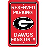 NCAA Georgia Bulldogs 12-by-18 inch Plastic Parking Sign