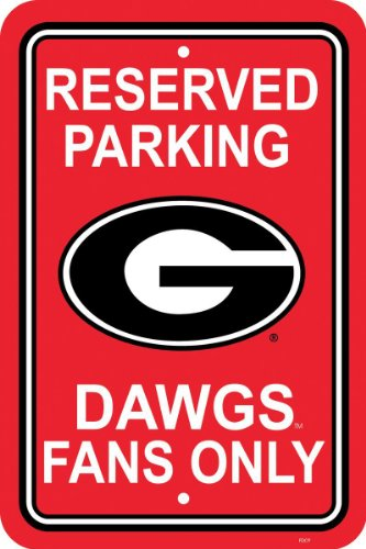 Fremont Die NCAA Georgia Bulldogs 12-by-18 inch Plastic Parking Sign ()