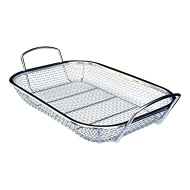Culina Stainless Steel Square BBQ, Vegetable and Grilling Basket