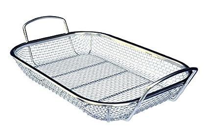 Amazon.com: Culina cesta cuadrada de acero inoxidable para ...