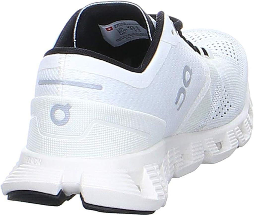 White//Black 10 on Running Womens Sneaker Cloud X