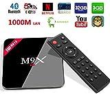 Henscoqi M9X M3 Plus TV Box Amlogic S912 Octa Core Android 6.0 3GB 32GB 1000Mbps LAN BT 4.0 Dual Wifi