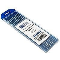 """TIG Soldadura Electrodos de tungsteno 2% Lantanated 1/16 """"x 7"""" (Azul, WL20) 10-Pack"""